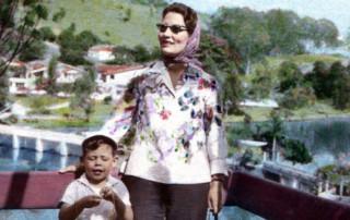 Fábio Caramuru e sua mãe, Neide Bello Caramuru