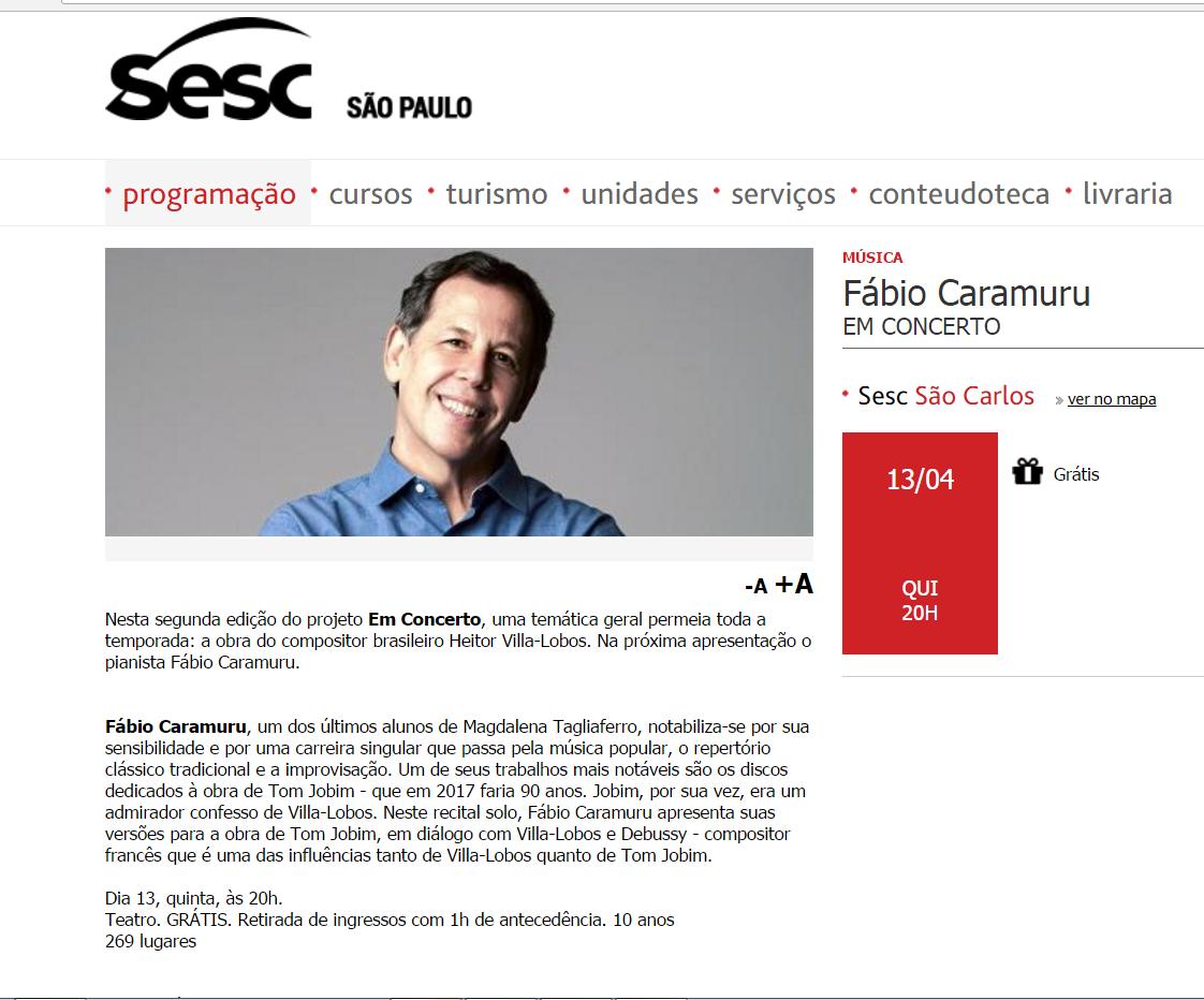 Fábio Caramuru Sesc São Carlos