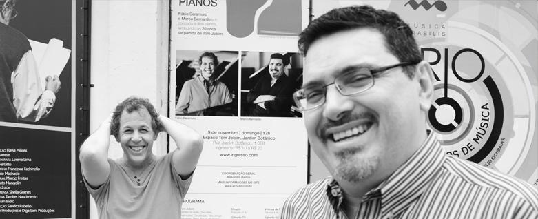 """Entrevista do duo """"Brasil em dois pianos"""" para o UOL"""
