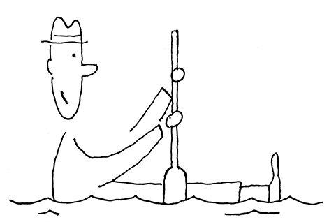 Barco, por Guto Lacaz, arte cedida para Memórias da Minha Mãe, de Fábio Caramuru