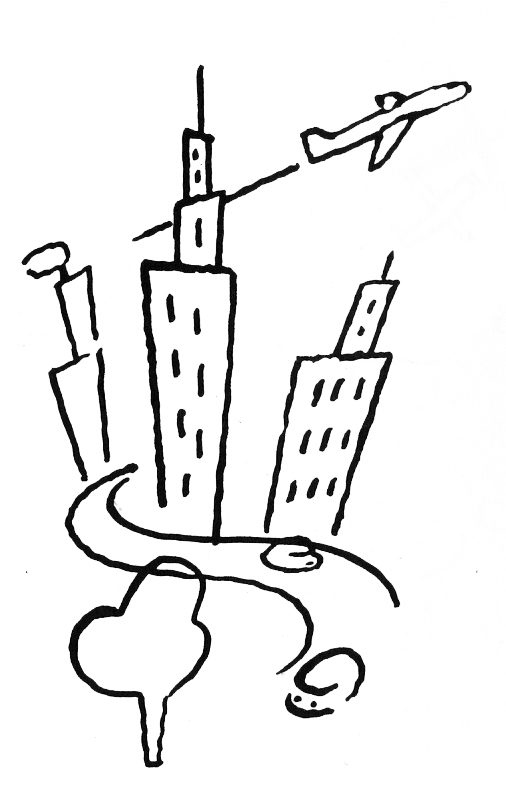 City, por Guto Lacaz, arte cedida para Memórias da Minha Mãe, de Fábio Caramuru