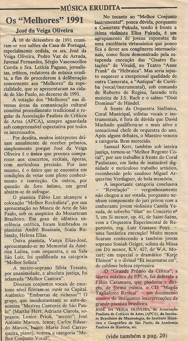 Fábio Caramuru ganha prêmio APCA - Magda Tagliaferro